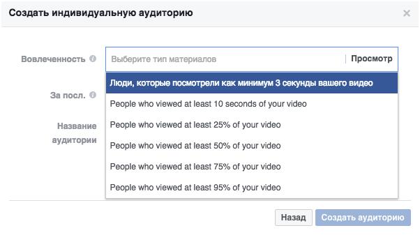 Аудитории в Фейсбук с высокой конверсией