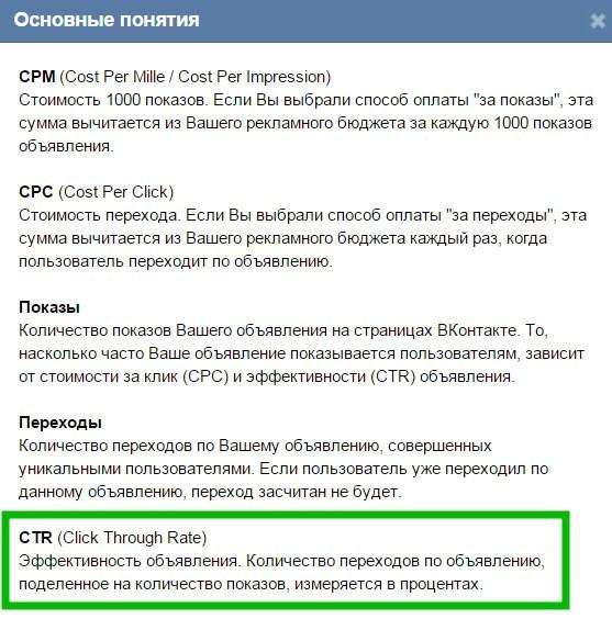 Причины низкого CTR ВКонтакте